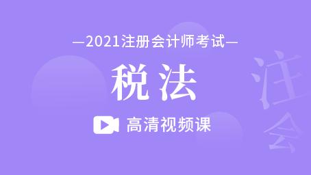2021年注册会计师-税法(录播)